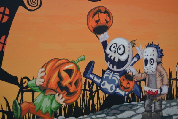 Disfraces Halloween con material reciclado