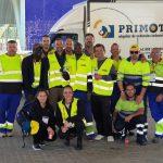 Trabajadores en el Maratón